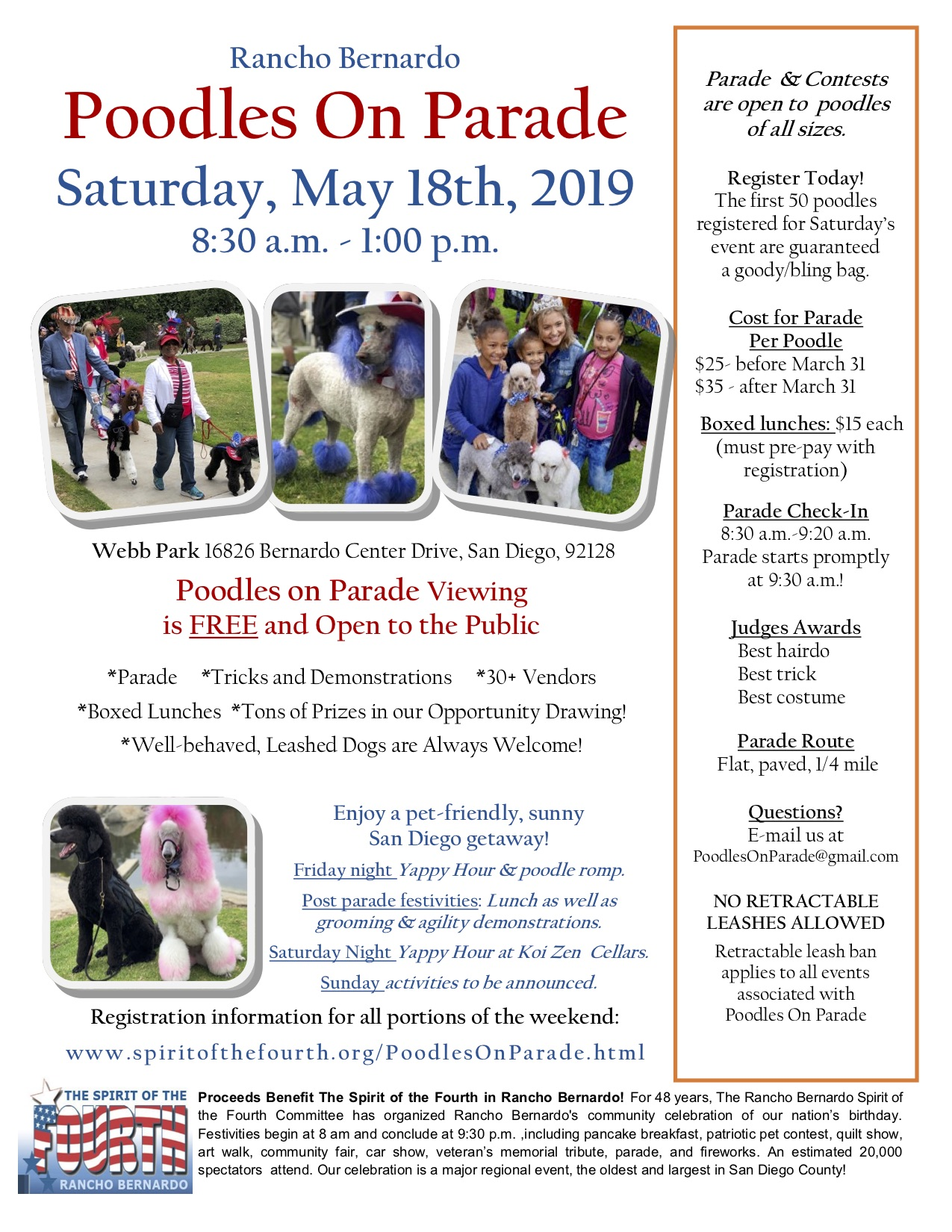 Poodles On Parade Flyer - 2019